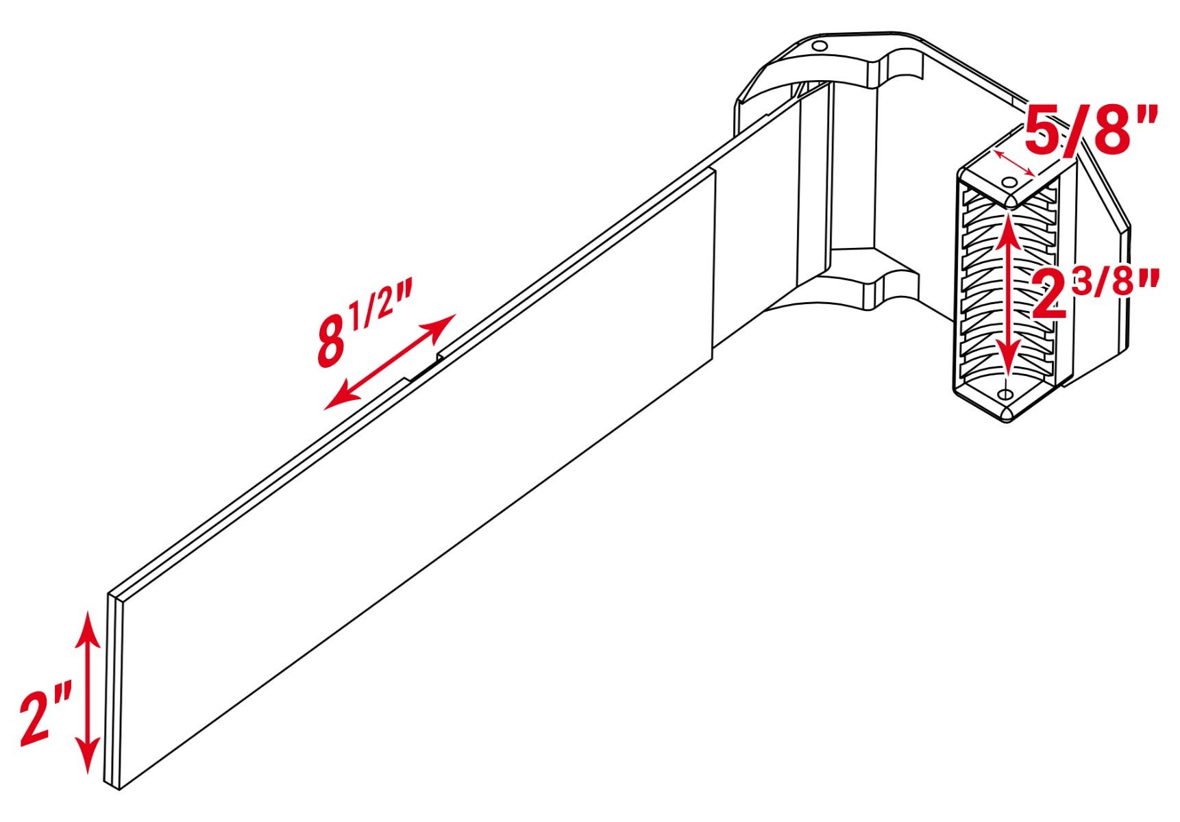 Windshield clamp cad model